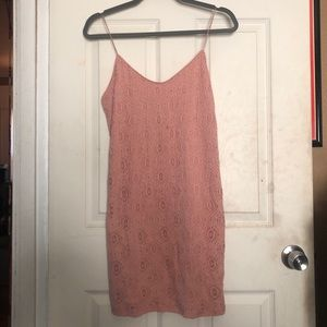 NWOT Soft Pink Lace Body Con Dress